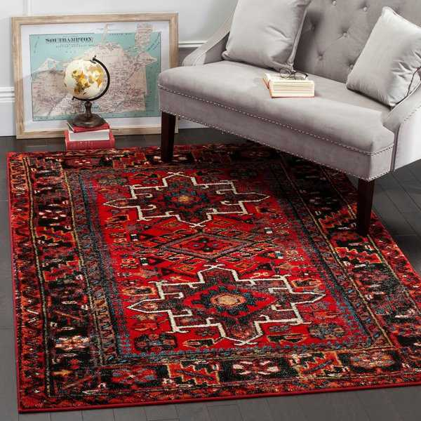 Safavieh Vintage Hamadan Traditional Red/ Multi Rug - 6'7' x 9'