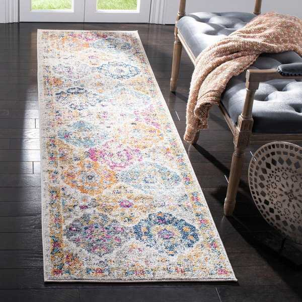 Safavieh Madison Bohemian Vintage Cream/ Multi Distressed Runner Rug - 2'3' x 12'