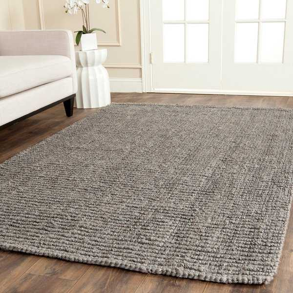 Safavieh Casual Natural Fiber Hand-Woven Light Grey Chunky Thick Jute Rug - 5' x 8'