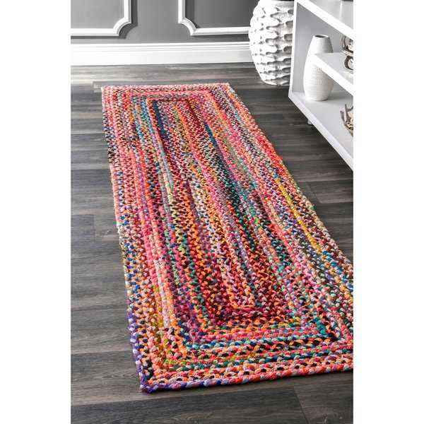 The Curated Nomad Grove Handmade Multicolor Runner Rug - 2'6' x 8' runner