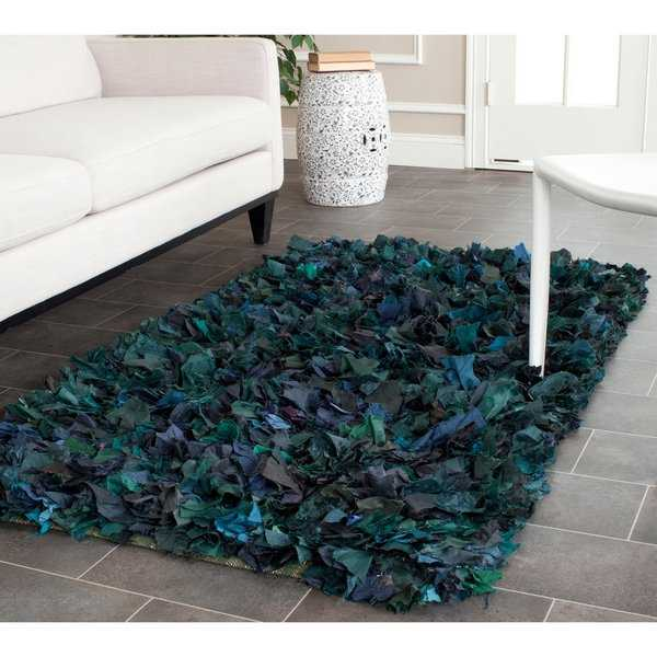 Safavieh Handmade Decorative Rio Shag Green/ Blue Area Rug - 3' x 5'