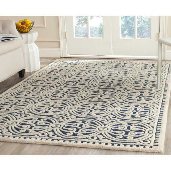 Safavieh Handmade Cambridge Moroccan Navy Blue/ Ivory Rug - 10' x 14'